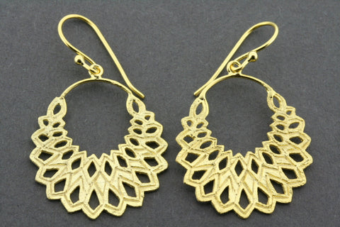 Warratah drop earring - gold plated