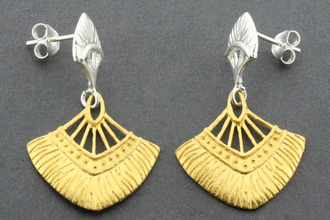 dandelion earring - gold plated