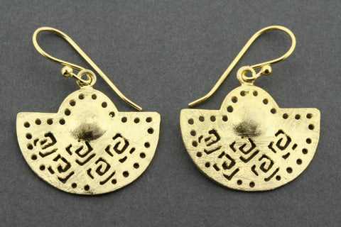 Maghreb sun earring - gold plated