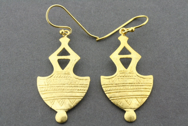 Mali earring - gold plated