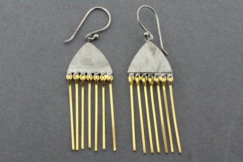 Medusoz earring - gold plated & oxidized