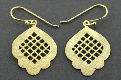 Eritrea earring - gold plated