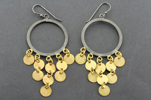 Sahel earrings - gold plated & oxidized