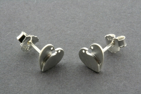 2 Bird Heart Stud