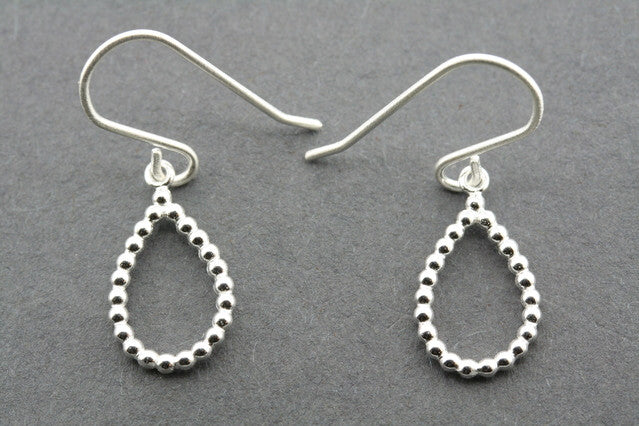 beaded teardrop earring