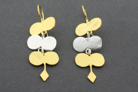 sungold drop earring - gold plated