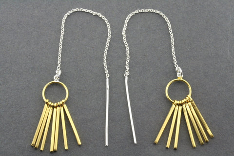 chain & tassel earring - gold plated