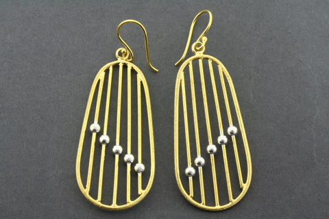 abacus earrings - gold plated