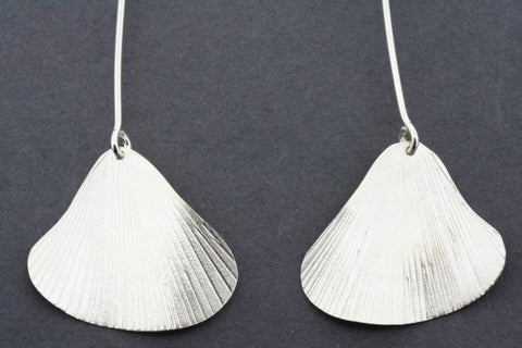 gingko long drop earring