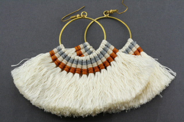 large silk hoops - cream