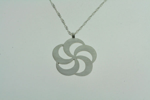 lotus spiral pendant on 55cm singapore chain