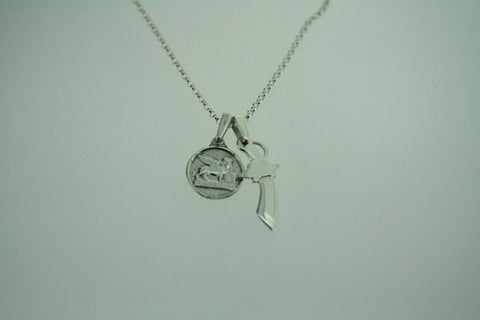coin & dagger necklace
