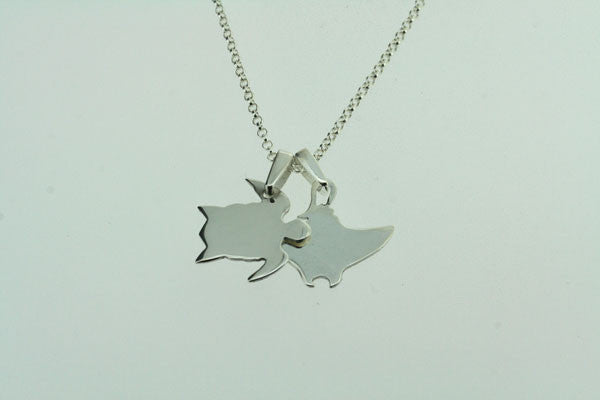 stingray & turtle necklace