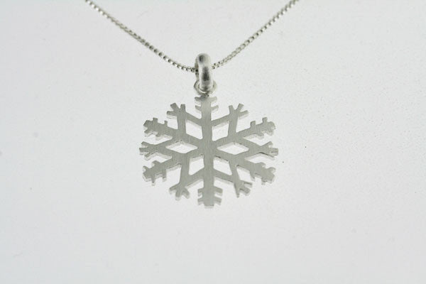 little snowflake necklace