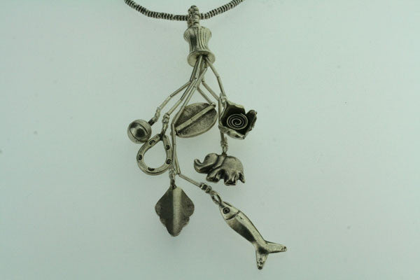 7 charm pendant on 75cm chain