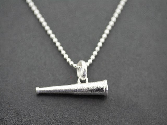 Telescope pendant on 45 cm ball chain - sterling silver