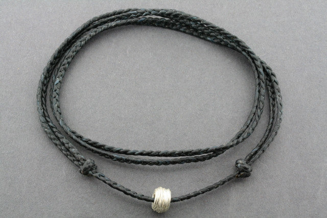 slip knot necklace - reel - black