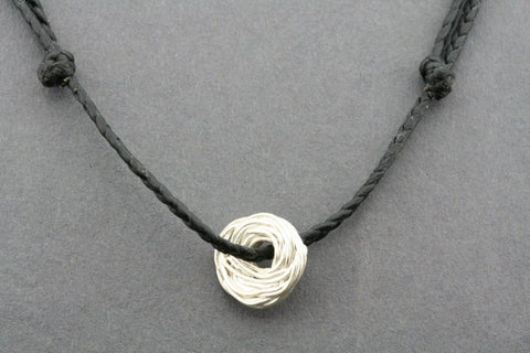 slip knot necklace - nest - black