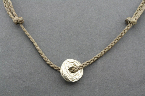 slip knot necklace - nest - sand