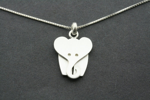 double elephant pendant necklace