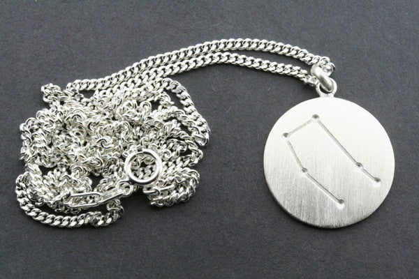 zodiac pendant - gemini on 60cm link chain