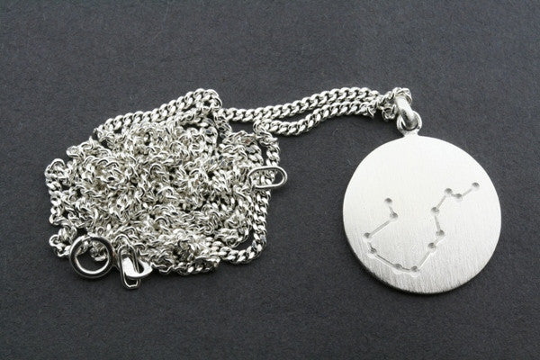 zodiac pendant - aquarius on 60cm link chain