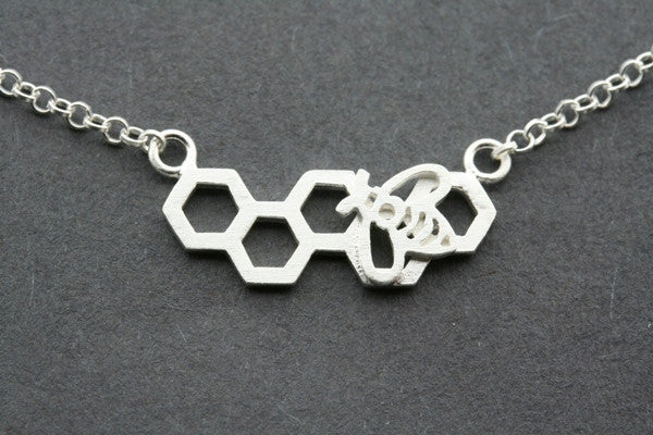 honey-comb necklace