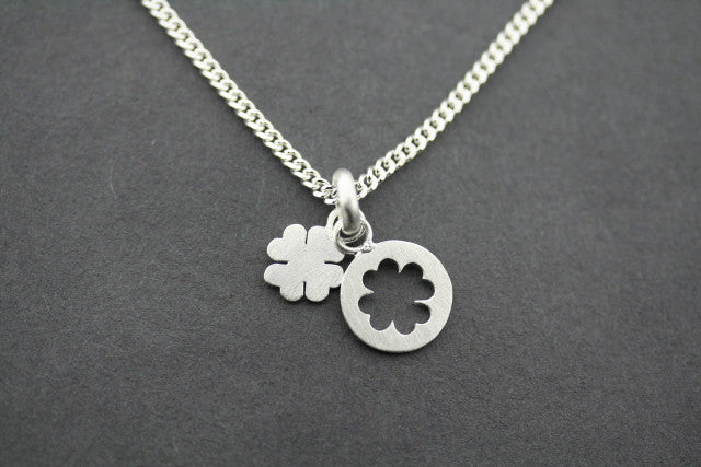 clover cutout pendant on 45cm link chain