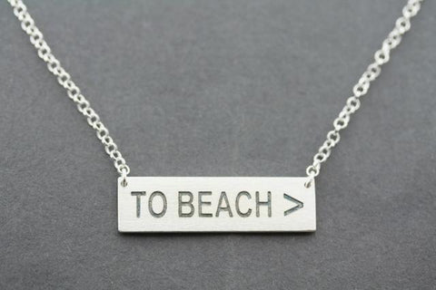 TO BEACH > necklace