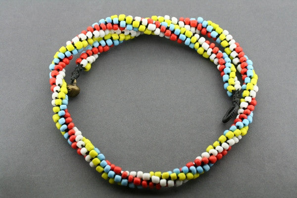 multi colour tubular necklace