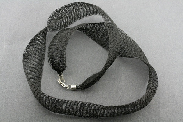 titanium mesh necklace - 45cm - black