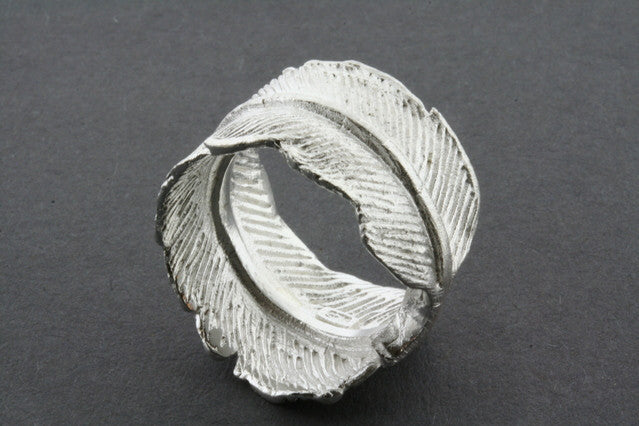 foiled feather ring