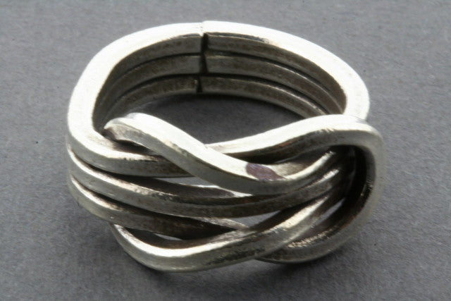 heavy infinity knot ring