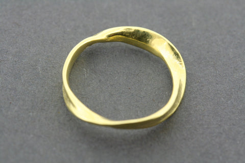 twist ring - gold plated