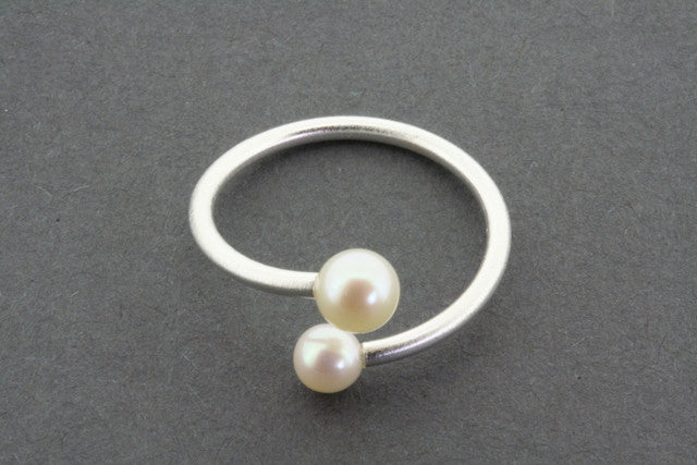 Delicate Sterling Silver and Freshwater Pearl Ring