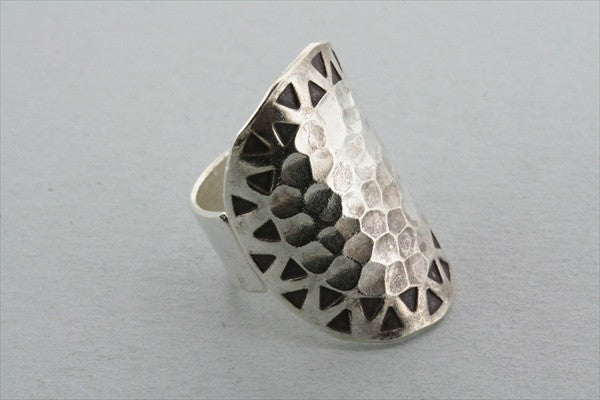 triangle/circle battered ring