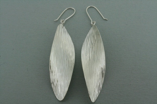 twisted leaf earring