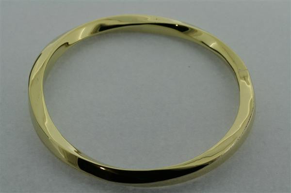 twisted square edge bangle - brass
