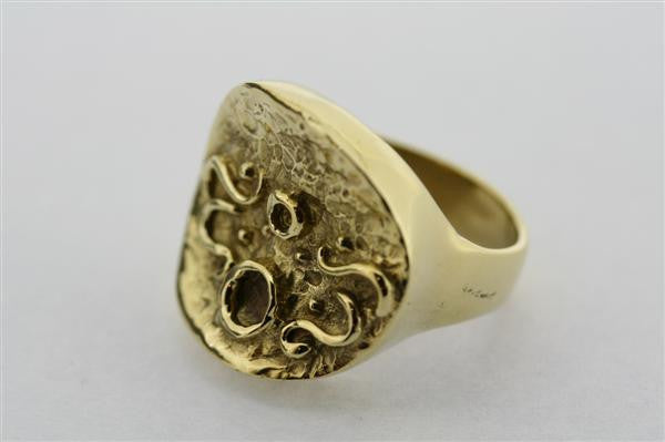 zanifel signet ring - brass
