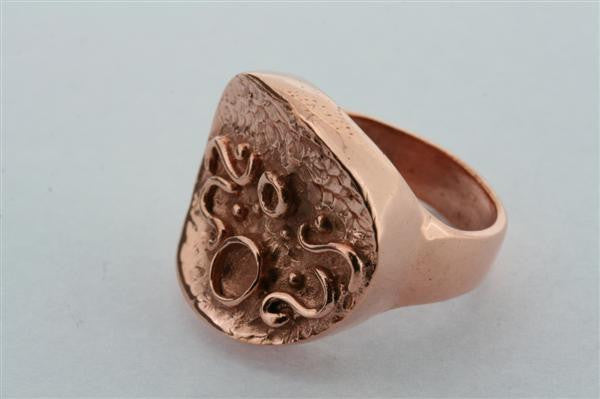 zanifel signet ring - copper