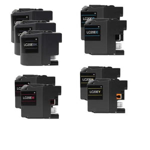 Brother LC20E Ink Cartridge Set of 9