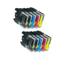 Brother LC61 Ink Cartridge Bundle (10 Cartridges)