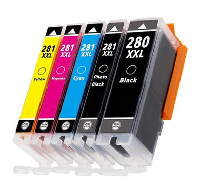 Canon PGi-280XXL, CLi-281XXL Set of 5 (Pigment Black, black, cyan, magenta and yellow)