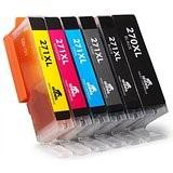 Canon PGI270XL & CLI271XL (set of 6 - 1 Pigment Black PGI270XL & 1 Each of CLI271XL Black, Cyan, Magenta, Yellow, Gray)