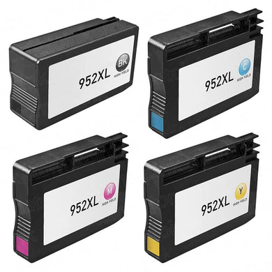 Set of 4 HP 952XL Compatible High Yield Ink Cartridges - 1 Black, Cyan, Magenta, Yellow