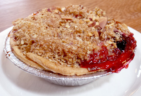 Apricot Cherry Crumble Pie