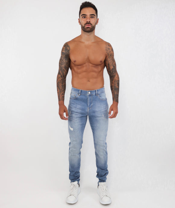 Light Blue Skinny Jeans Small Repaired
