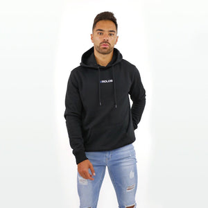 Black Hoodie with Small  Embossed Print