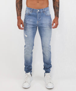 Light Blue Slim Fit Jeans Small Repaired