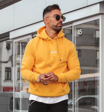 Load image into Gallery viewer, Yellow  Hoodie With Small  Embossed Print
